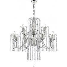 dan1238 daniella 12 light crystal chandelier polished nickel