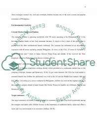 market analysis of jollibee fast food restaurant essay  fast food restaurant essay example text preview
