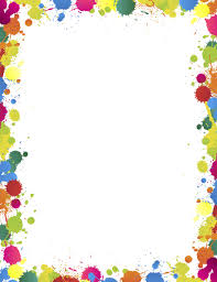 colorful paint splatter border. Printable Paint Splatter Border Use The In Microsoft Word Or Other Programs For Creating On Colorful