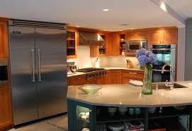 cherry cabinets quartz countertop