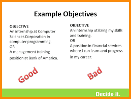 Examples Of Career Objective Sarahepps Com