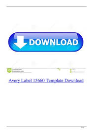 Avery Template 8860 Avery Label 15660 Template Download By Miedipacal Issuu