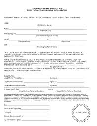 Sample Medical Consent Form Example. Sample Medical Consent Form ...