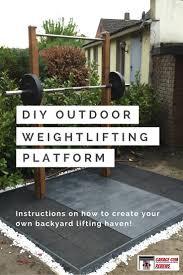 diy outdoor weightlifitng platform long