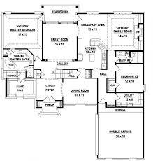 3 bedroom house floor plan modern