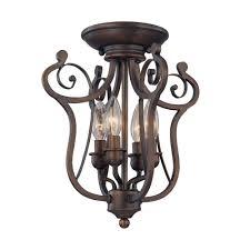 millennium lighting 4 light rubbed bronze candle semi flush mount light