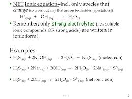 9 net ionic equation incl