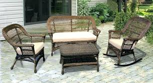 outdoor furniture wicker. Perfect Wicker Wicker Chair With Ottoman Outdoors Outdoor Patio   Intended Furniture