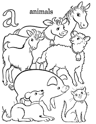 Small Picture Alphabet Coloring Pages Printable A For Animals Alphabet