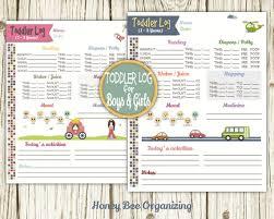 Toddler Log Printable Nanny Log Babysitter Report Etsy