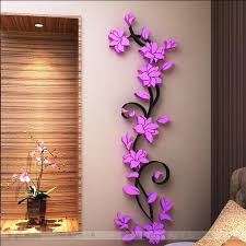 Small Picture Free shipping Flower Hot Sale wall stickers home decor 3d wall