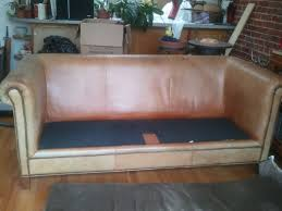 san go leather repair before and after samples tlc san go the matching ralph lauren sofa the seat cushion was originally covered with fabric