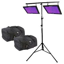chauvet dj led shadow blacklight panel wash effect light duo package