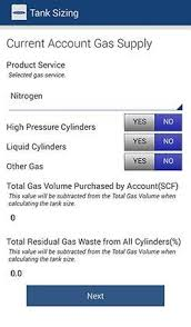 Gas Cylinder Size Chart New Tank Sizing App From Chart News Gasworld