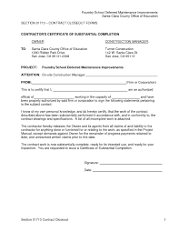 Certificate Of Completion Construction Sample Ht Printable