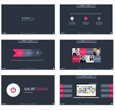 After Effect Presentation Template Free Business Presentation Template In Flat Style Free Vector Photo After