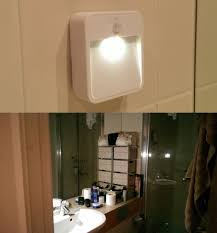 I put a motion sensing light in my bathroom to avoid getting ...
