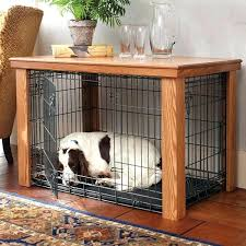 decoration interesting dog crate side table with slide over from diy coffee