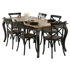 Distressed Black Kitchen Table Provincial Oak Table 2000 X 1000mm Distressed Black