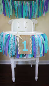 under the sea highchair banner mermaid party 1st birthday banner frozen party