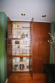 Large Pantry Cabinet Kitchen High Brown Wooden Pantry Cabinet With Six Pair Doors