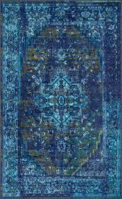 ashlina printed persian overdyed vintage rug pink