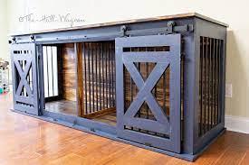 diy custom double dog kennel crate