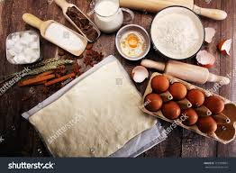 Bakery Ingredients Flour Eggs Butter Sugar Stock Photo Edit Now