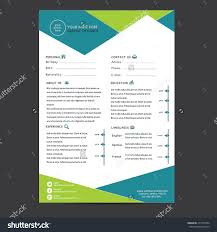 personal objective examplesthe best cv u resume templates  cv template design stock vector 277531004 shutterstock resume template design
