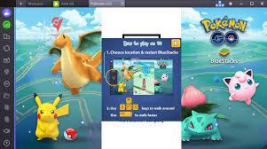 Ngồi nhà chơi Pokemon GO trên BlueStacks