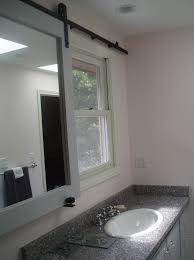 sliding bathroom mirror: clester sliding barn door bathroom privacy  sliding bathroom