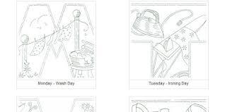 kitchen towel embroidery designs. vintage household chores kitchen towel set embroidery designs