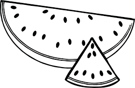 coloring watermelon coloring pages 8 image for kids