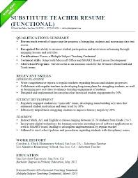 Teaching Resume Template Free Cool Skills Resume Template Preschool Teacher 48 Samples Templates