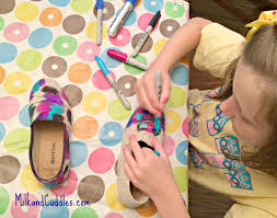 making sharpie shoes