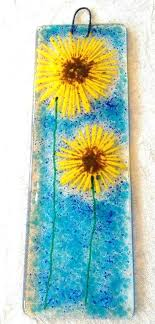 glass flower wall art blown contemporary abstract corporate flowers fused