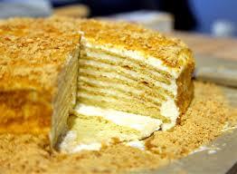 Medovik Tort 15 Layer Russian Honey Cake