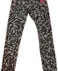 Pants Logos Nike Black With White Pants Logos Activewear Bottoms Size 2 Xs
