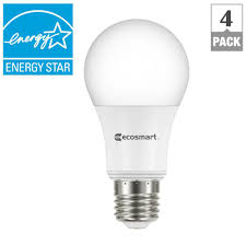 ecosmart 60w equivalent soft white a19 energy star dimmable led light bulb 4