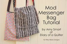 Easy Sewing Patterns For Beginners Mesmerizing Easy Mod Messenger Bag Tutorial
