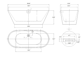 chic free standing tub dimensions vitale acrylic modern with soaker tub dimensions decorating