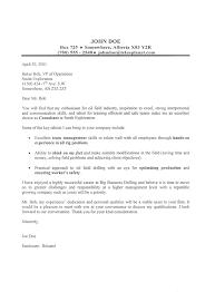 Oil Field Cover Letter Sample