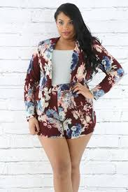 plus size short sets full blooom blazer plus size short set fashionxoxo shop