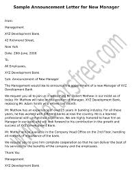 Death Announcement Templates Sample Announcement Letter For New Manager Management 11