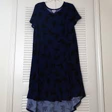 Paper Crane Size Chart Lularoe Paper Crane Royal Blue Black Carly Xl