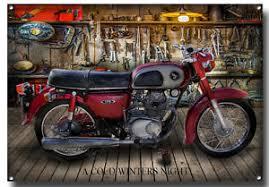 vintage honda motorcycles. Beautiful Motorcycles Image Is Loading HONDACLASSICCD175MOTORCYCLEMETALSIGNVINTAGE In Vintage Honda Motorcycles 5