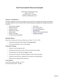 Resume For Cashier Job Retail Resume Examples 100 Food Service Cashier Sample Also 87