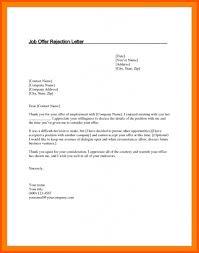 Declining Job Offer 11 Declining Job Offer Letter Sample Iwsp5