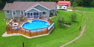 above ground pool with deck attached to house. Above Ground Pool Deck A Pools Cheap Kits With Attached To House