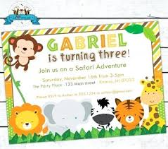 First Birthday Invitations Free Printable Great Free Jungle Theme Party Invitation Templates Idea